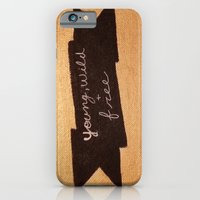 iPhone Cases featuring Young, Wild, & Free by Sweet Colors Gallery