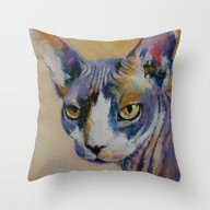 Throw Pillow featuring Sphynx by Michael Creese