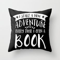 I Start a New Adventure Every Time I Open a Book! - Inverted Throw Pillow