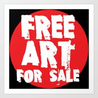 Free Art For Sale (red) Art Print