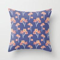 anemone flowers :: lavender Throw Pillow
