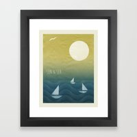 Sun Print - Sun & Sea Framed Art Print