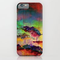 IT'S A ROSE COLORED LIFE 4 - Deep Red Colorful Floral Garden Abstract Crimson Green Painting iPhone 6 Slim Case