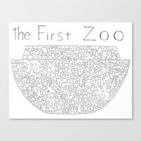 The First Zoo Canvas Print