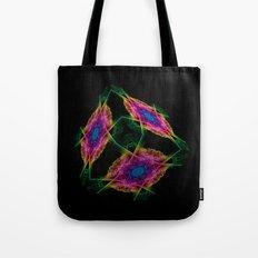 Oriental Smoke 3D Cube Tote Bag