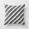 Black and White Tiger Stripes Throw Pillow