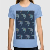 Australian Welcome Swallow I Womens Fitted Tee Athletic Blue SMALL