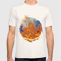 SKY ON FIRE Mens Fitted Tee Natural SMALL