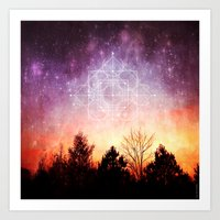 birth of a supernova Art Print