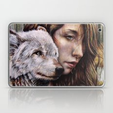 The Girl and the Wolf Laptop & iPad Skin