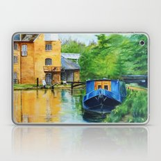 A narrow boat stops after passing through Coxes Lock near Addlestone in Surrey.  Laptop & iPad Skin