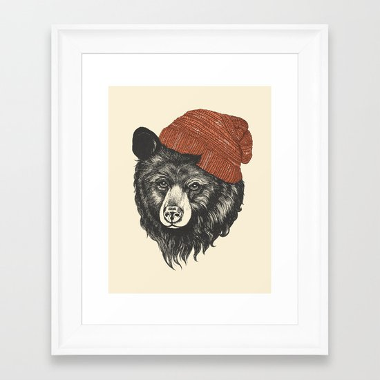 zissou the bear Framed Art Print