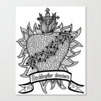 Sacred Heart - Redémpto… Canvas Print