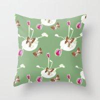 Venus Flutterby Throw Pillow
