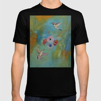 Hummingbirds Mens Fitted Tee Black SMALL