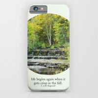 fall leaves + f scott fitzgerald iPhone 6 Slim Case