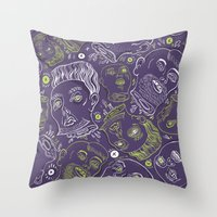 Floating Heads (Halloween Edition) Throw Pillow