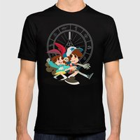 Pine Twins Mens Fitted Tee Black SMALL