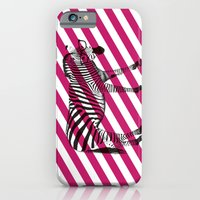 Nerd Zebra (Pink) iPhone 6 Slim Case