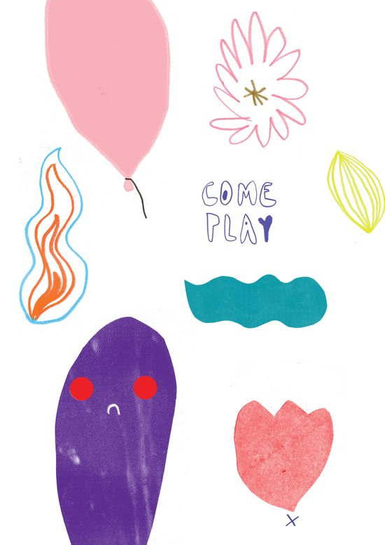 come and play Art Print