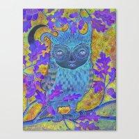 Oak & Owl Canvas Print