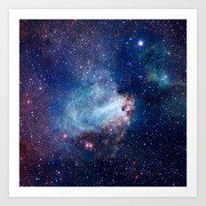 Omega Nebula Art Print