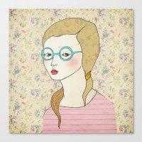 Las Gafas Redondas. Canvas Print