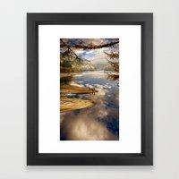 Reservoir Reflections Framed Art Print