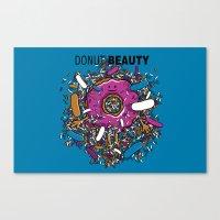 Donut Beauty Canvas Print