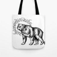 Bear Queen Tote Bag