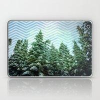 Snowy Chevron Laptop & iPad Skin