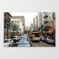 San Francisco Street in Color Canvas Print