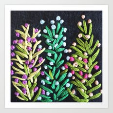 Embroidery 5 Art Print