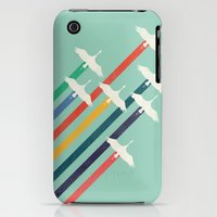 iPhone 3Gs & iPhone 3G Cases featuring The Cranes by Budi Kwan