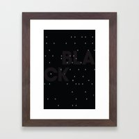 Black as night Framed Art Print