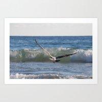 Fly Away Gull 6950 Art Print