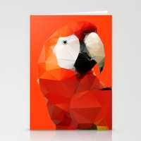 Geo - Parrot Red Stationery Cards