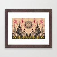 COSMIC FOREST Framed Art Print