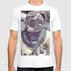 Diver White SMALL Mens Fitted Tee