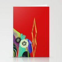 Red Abstract Stationery Cards