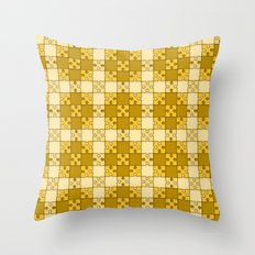 Puzzle Pattern,yellow Throw Pillow