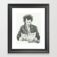 ANALOG Zine - Sid Vic Framed Art Print