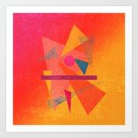 Autumn Abstract Design Art Print