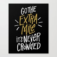 Go The Extra Mile Canvas Print