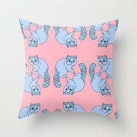Playful Kittens, 2014. Throw Pillow