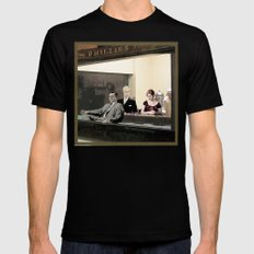 mad men characters are Hopper's Nighthawks SMALL Mens Fitted Tee Black