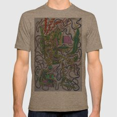 Kali Mens Fitted Tee Tri-Coffee SMALL