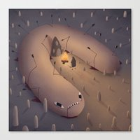 Camp Worm Canvas Print