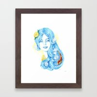Lady Water / Dame Eau Framed Art Print