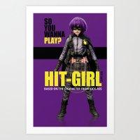 Hit-Girl Art Print
